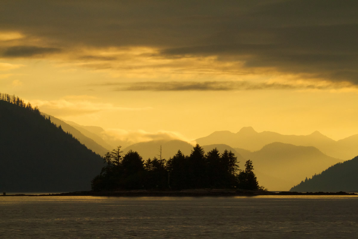 Sunset in Haida Gwaii