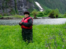 Mary, amidst the powerful landscapes of the Great Bear Rainforest